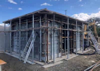 農業用水圧送ポンプ管理室及びタンク基礎2